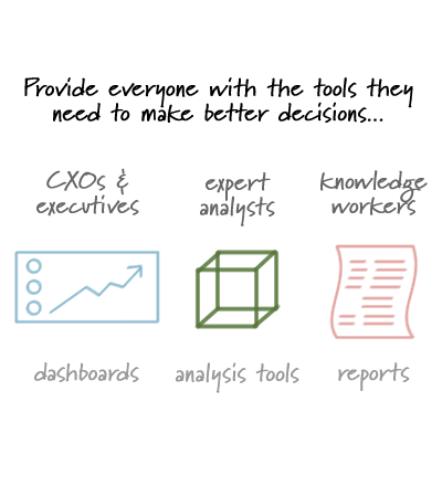 Delivery includes dashboards, analysis tools, and reports